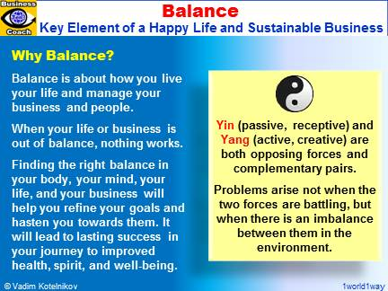 Balance, Power of Balance in Life and Business, Yin and Yang, Balanced Synergy