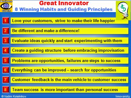 GREAT INNOVATOR: 8 Winning Habits and Guiding Principles