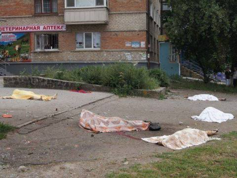 Civilians killed in the Eastern Ukraine, massacres by the Unkranian army