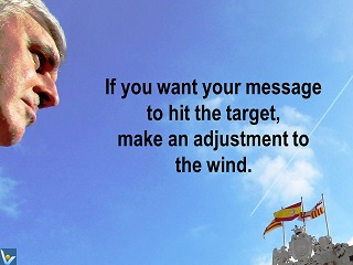 Best Communication quotes If you want your message to hit the target make adjustment to the wind Vadim Kotelnikov