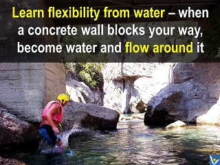 Success quotes water flexibility learning Vadim Kotelnikov, tao-style wisdom