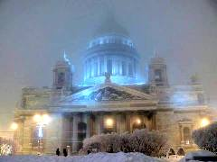 Issaky cathedral in St-Petersburg, Russia - look like a fairy tale in winter